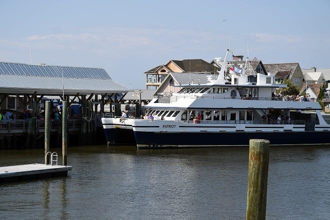 The ferry docks on Bald Head Island in 2018.