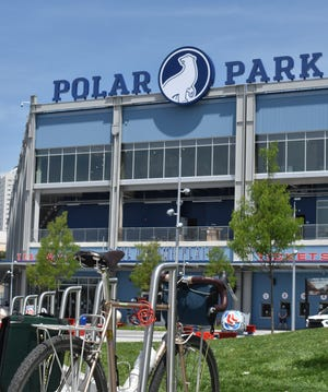 Bike racks at Polar Park help make cycling a viable alternative to driving to a game.