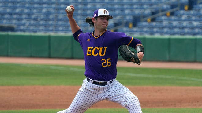ECU ace Gavin Williams, a Cape Fear High alum, is 10-0 this season and his 1.32 ERA ranks fourth in the nation.