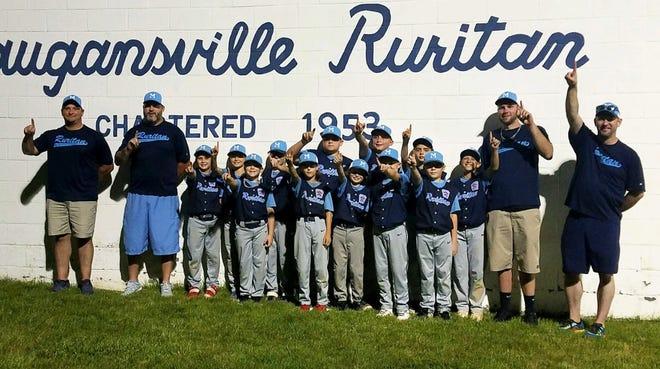 Maugansville Ruritan celebrates its league title.