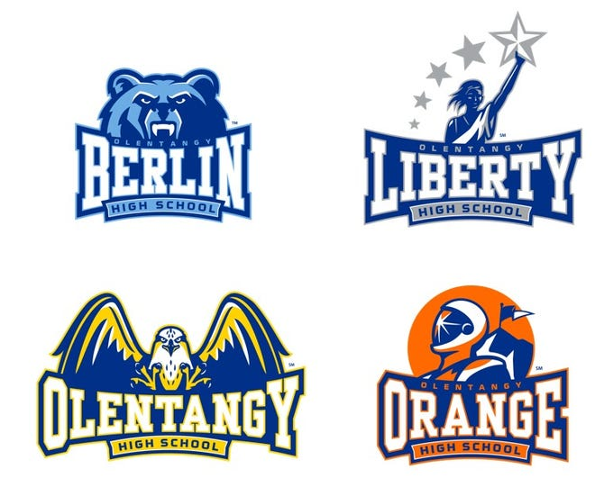 New high school logos are being rolled out over the summer for three of four Olentangy high schools: Liberty, Olentangy and Orange.