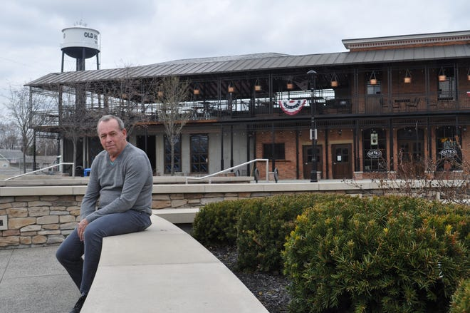 Tim Kauffman, executive director of Destination Hilliard, is pictured at Hilliard's Station Park in April 2019. Kauffman died May 30 at his home. He was 64.