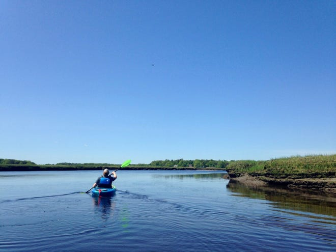 It's time to get out on the water with your kayak! Shown here, the South River at Rexhame Beach in Marshfield.