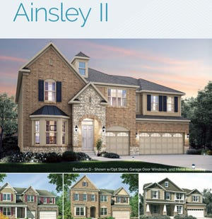 The Ainsley is one of severalsingle-family home designs that could   be built in a new subdivision along Ohio 747 in Liberty Township. There will also be townhouses and duplexes constructed.