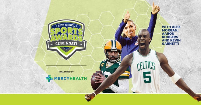 NBA Champion and MVP Kevin Garnett joins celebrity athletes, including Alex Morgan and Aaron Rodgers, announcing the winners of the Cincinnati High School Sports Awards.
