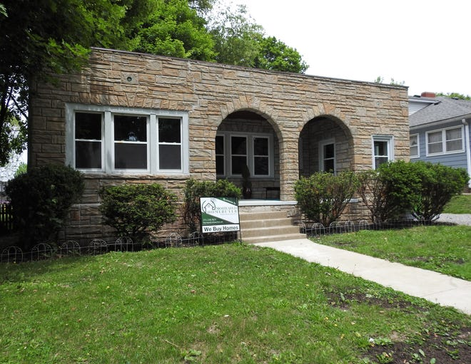 Renovations at a home at 546 Cambridge Road with a sandstone front and unique architecture are complete.