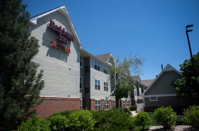 Residence Inn Marriott, shown here in Fort Collins, Colo. on Thursday, June 3, 2021, is one of two hotels that a developer hopes to convert to apartments.