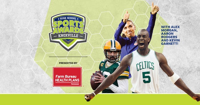 NBA Champion and MVP Kevin Garnett joins celebrity athletes, including Alex Morgan and Aaron Rodgers, announcing the winners of the Knoxville High School Sports Awards.