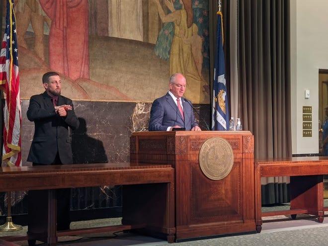 "Gov. John Bel Edwards unveiled his ""shot for a shot"" campaign Thursday."