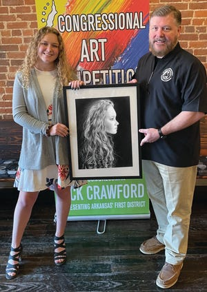 State Rep. Rick Crawford, 1st District, recently announced the winners of the 2021 Congressional Art Campaign, including Mountain Home High School senior Reagan Buckley as best in show.