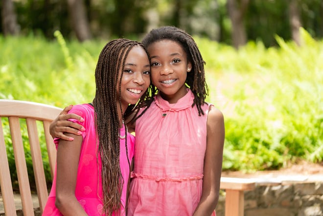 Breanna and Brooke Bennett, age 13, are the founders of Women in Training, Inc.