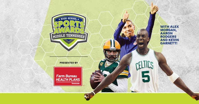 NBA Champion and MVP Kevin Garnett joins celebrity athletes, including Alex Morgan and Aaron Rodgers, announcing the winners of the Middle Tennessee High School Sports Awards.