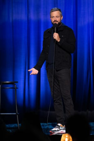 Comedian Nate Bargatze performs will perform standup June 11-13, 2021, at Off The Hook Comedy Club in North Naples Florida. (Comedy Special 2020. Nate Bargatze. Cr. Greg Gayne/NETFLIX © 2020)