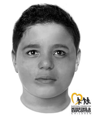 This image provided by the Las Vegas Metropolitan Police Department and created by the National Center for Missing and Exploited Children depicts a slain boy believed to be between the ages of 8 and 12 whose body was found Friday, May 28, 2021, off a hiking trail between Las Vegas and rural Pahrump, Nevada. Police in Las Vegas are trying to identify the child.