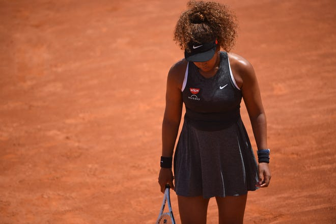Naomi Osaka withdrew from the French Open, citing her mental health. (Corinne Dubreuil/ABACAPRESS.COM/TNS)