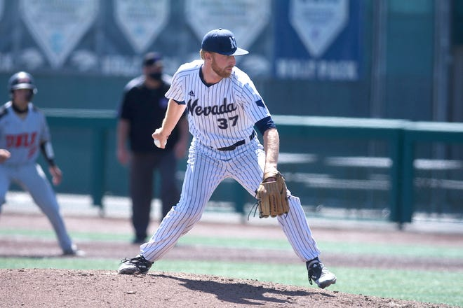 Nevada reliever Shane Gustafson and his Wolf Pack teammates open up NCAA regionals play against UC Irvine.