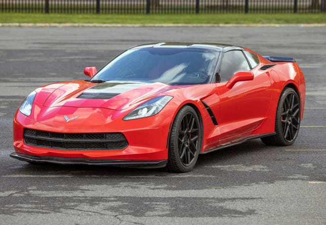 The state Office of General Services will auction off this 2015 Chevrolet Corvette, which was recovered by DMV investigators in Rochester.