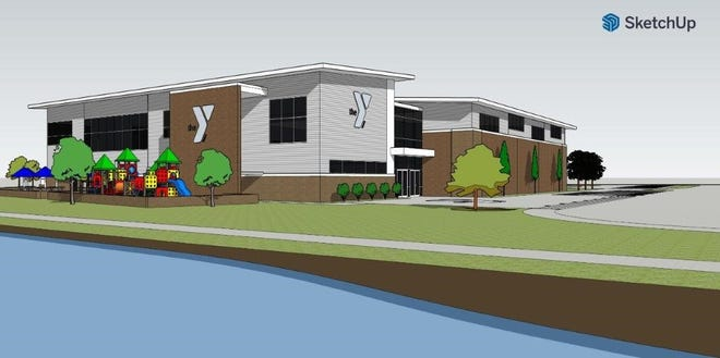 A rendering of the future YMCA of Northwest Louisiana at Camp Forbing.