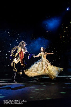 """""""Beauty and the Beast"""" is performed at the Tuacahn Center for the Arts in Ivins, Utah."""