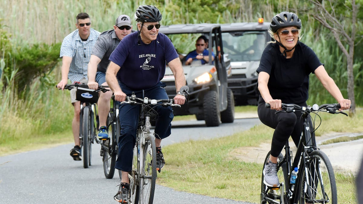 Joe and Jill Biden's Rehoboth Beach visit: Bike ride on her 70th birthday