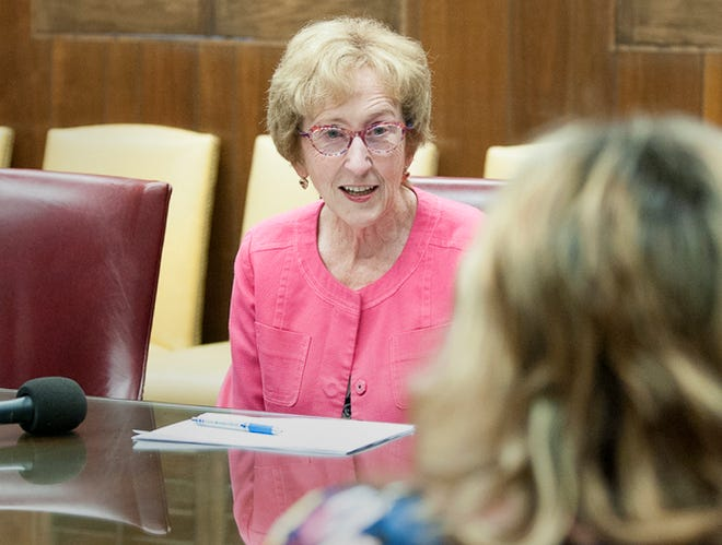Midwestern State University President Dr. Suzanne Shipley spoke to the media Thursday morning, June 3, 2021, after announcing her retirement from MSU the day before.