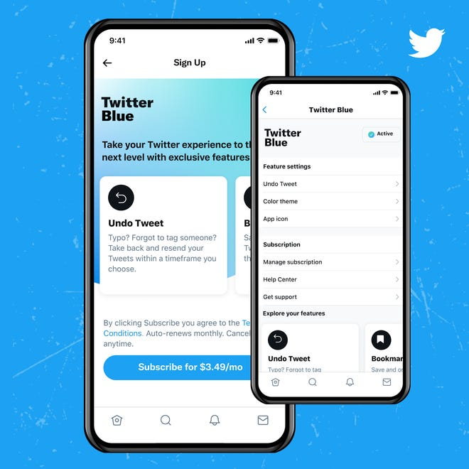 Twitter launches Twitter Blue, a new subscription service for users in Canada and Australia.