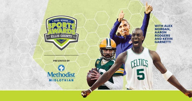 NBA Champion and MVP Kevin Garnett joins celebrity athletes, including Alex Morgan and Aaron Rodgers, announcing the winners of the Ellis County High School Sports Awards.