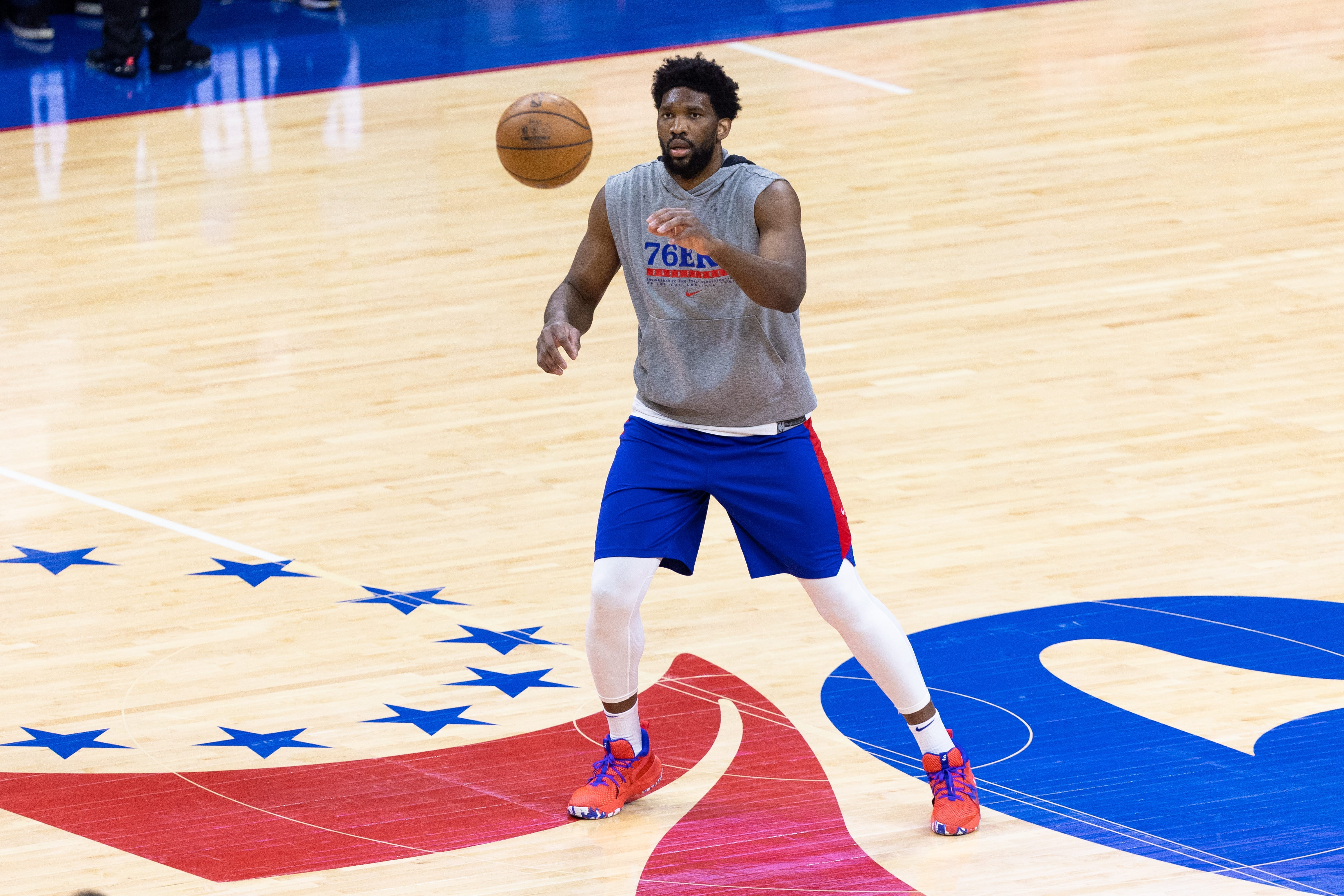 Sixers finish off Wizards without injured Joel Embiid, leaving second-round status uncertain