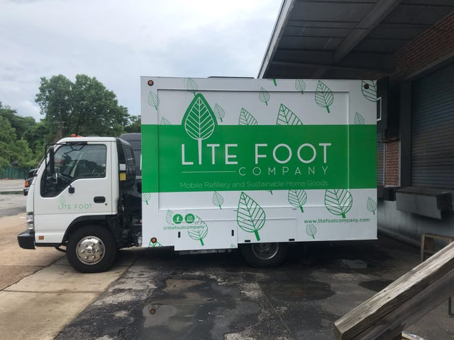 Lite Foot Company's mobile refillery is a repurposed telecommunications company van. Now being retrofitted, it's expected to be ready for its debut pop up June 12 at Two Tides Brewing Company. Photo special to the Savannah Morning News