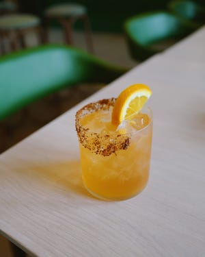 The Texas Sunset cocktail from Hotel Magdalena's Summer House on Music Lane.