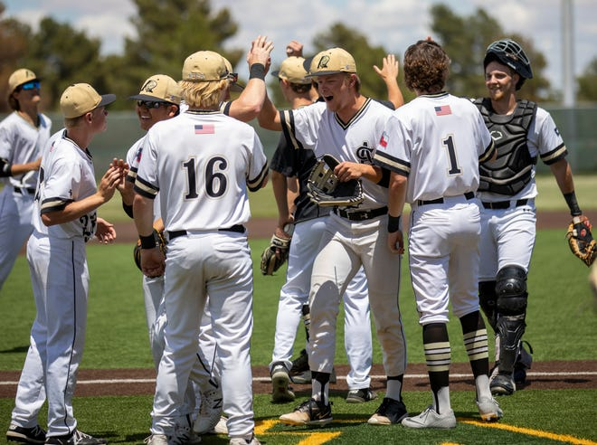 Amarillo High players celebrate after winning the game against Aledo on Friday, June 4, 2021 at Max H. Christensen Stadium. Jacy Lewis