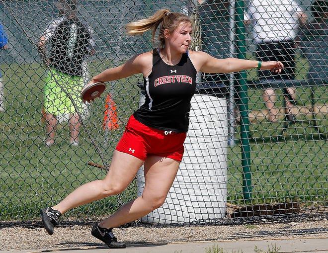 Crestview's Reagan Garrett is the Mansfield News Journal Girls Field Athlete of the Year.