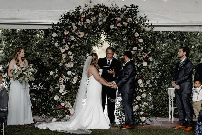Lauren Kantzer and Kayvon Padidar at their October 2019 wedding