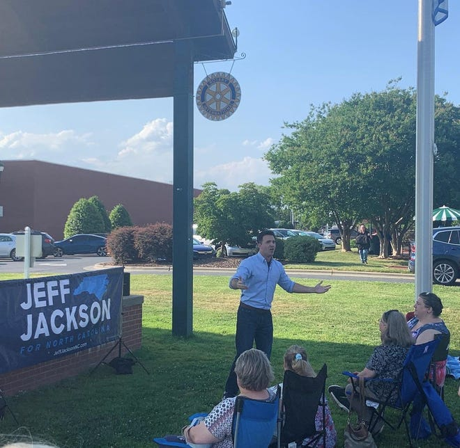 State Sen. Jeff Jackson stopped by Asheboro to learn about rural counties' issues and concerns.