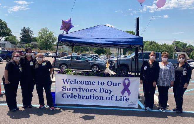 John W. & Edna McManus Shepard Cancer Center staff hosted a cancer survivor celebration outside the William L. Baker & Family Medical Building Friday in observance of National Cancer Survivor Day 2021 on June 6.
