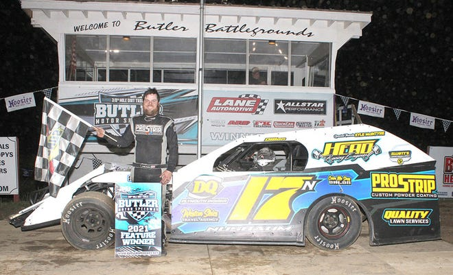 Dillon Nusbaum took home the UMP Modified feature win during his first visit of the year to Butler Motor Speedway on May 29.