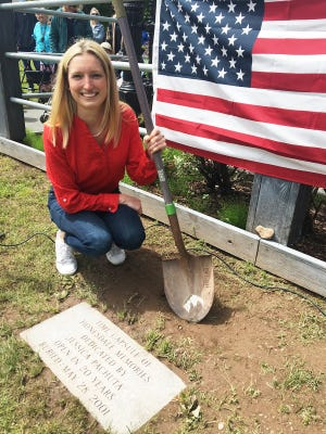 Jessica Pachuta was just a sixth grader at Wayne Highlands Middle School when she buried this time capsule in Central Park. Twenty years later, she unearthed its treasures before a big Memorial Day crowd.