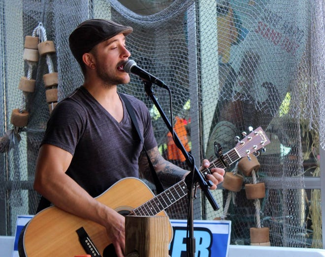 Jesse James Weston performed Friday at the announcement of the acts lined up for Erie's 814 Summer Experience. His band will perform Aug. 14 at the Northwest Bank Stage At Washington Park.