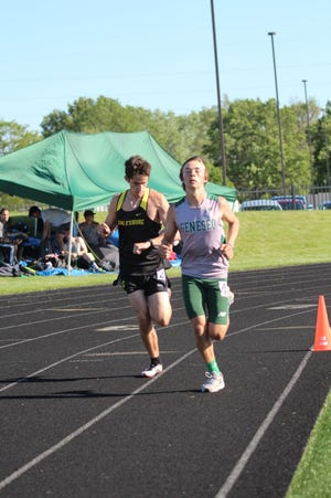 Brayden Combs placed first for Geneseo in the 3200m run with a time of 11:15.