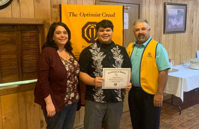Glen Rose High School class of 2021 graduate Nicholas Cruse was named a Youth of the Month by the Glen Rose Optimist Club.