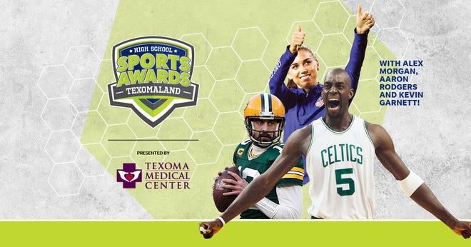NBA Champion and MVP Kevin Garnett joins celebrity athletes, including Alex Morgan and Aaron Rodgers, announcing the winners of the Texomaland High School Sports Awards.