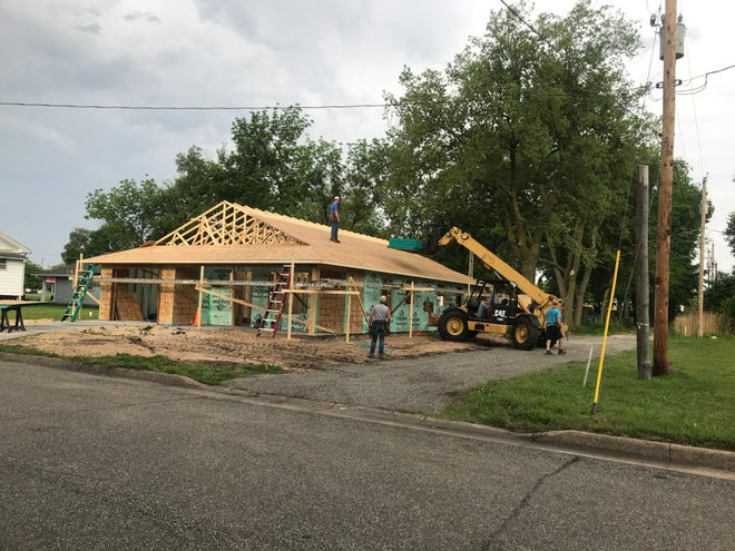 Habitat targets a cost of materials of between $80,000 and $85,000 — and estimates of increased cost this year are as much as$10,000. due to increased material costs the last few months.