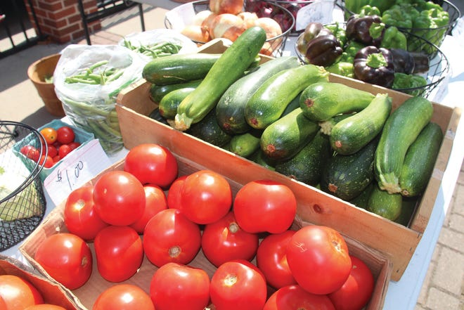 Fresh produce for sale at the Perry Farmers Market in 2018.