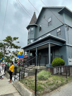 This home at 267 Webster Ave. is one of 14 buildings across Providence that have been renovated into apartments for formerly homeless families.