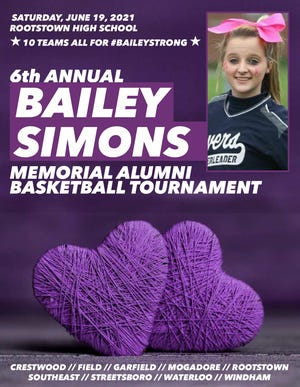 The Bailey Simons Memorial Alumni Basketball Tournament is June 19 at Rootstown