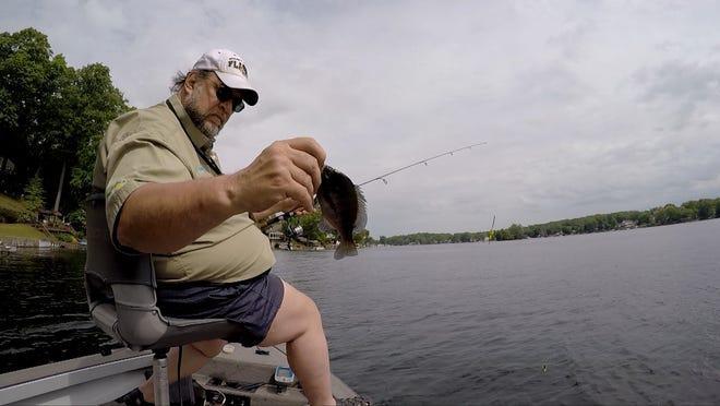Jack Kiser with a bluegill catch.