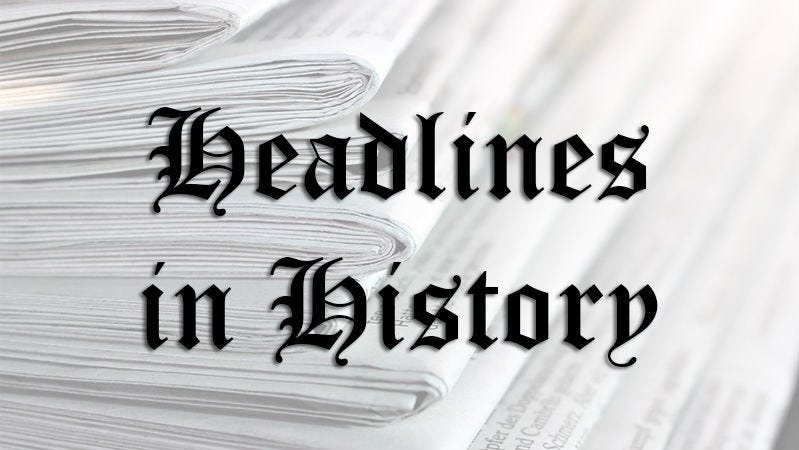 history listing the week in history July 31-Aug 1