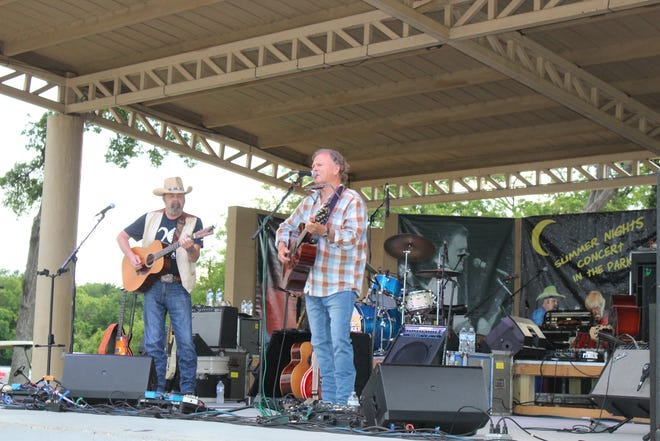 Musicians Scott Kirby, Gabriel Donohue and Davin James opened for country music act Asleep at the Wheel at Birdsong Amphitheater on Thursday evening.