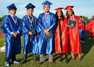 The 2021 graduating class of Manatee High School had 462 held at Joe Kinnan Field at Hawkins Stadium Thursday evening. The mission of Manatee High School is to increase student engagement by providing opportunities to think in every classroom, every period, every day.
