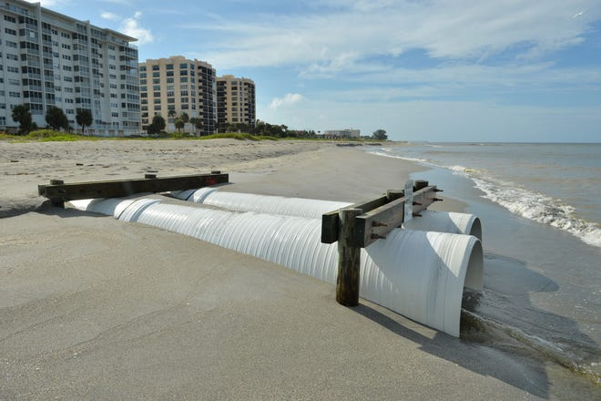 The Venice City Council will hear on Tuesday reports from Taylor Engineering on both sea level rise and the status of the city's stormwater outfalls, which drain rainwater into the Gulf of Mexico and Intracoastal Waterway. Pictured here is Outfall No. 2, near Alhambra Road.